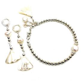 Perlenschmuck Edelsteinschmuck Handgefertigt Silberschmuck Armbänder Schmucksets Damenschmuck Handgefertigt MB-DESIGN Schmuckherstellung