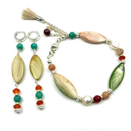 Perlenschmuck Edelsteinschmuck Handgefertigt Ohrringe Armbänder Schmucksets MB-DESIGN Schmuckherstellung