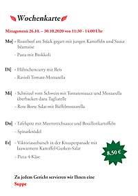 Wochenkarte KW44